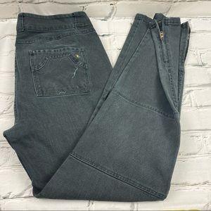Emerson Frye New York distressed black jeans